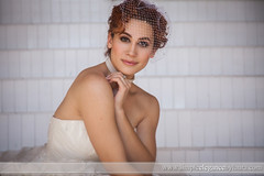 Playing Coy (Laura K Bellamy) Tags: wedding weddings bride bridal bridals portraits