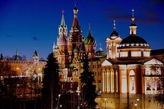 Evening Moscow (prokhorov.victor) Tags: москва город вечер кремль храмы церковь улица