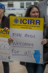 Make Illinois A Welcoming State for Immigrants Chicago 4-24-19_0359 (www.cemillerphotography.com) Tags: refugees borderwall sanctuarycities racism xenophobia fascism ice immigrationandciustomsenforcement mexico centralamerica migrants imperialism colonialism concentrationcamps privateprison corecivic geogroup profitingoffcaptives torture lockedup confinement