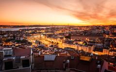 Sunset View | Lisbon, Portugal (NicoTrinkhaus) Tags: sunset view lisbon portugal europe lisboa travel evening miradouro capital skyline cityscape