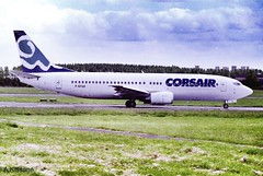 CORSAIR B737 F-GFUG (Adrian.Kissane) Tags: airport takeoff airliner airline aircraft aeroplane 737 ireland french aviation runway boeing 1990s b737 24750 fgfug shannon corsair