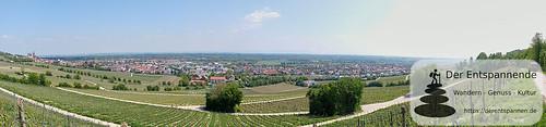 Panoramablick auf die Rheinebene