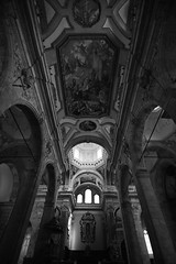 Cathedral of Cagliari - Sardinia, Italy (Acocchi) Tags: tokina d5300 nikon cagliari sardegna sardinia italia italy altare dipinti paint paints windows cupola arches bnw blackandwhite wideangle church cathedral