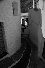 CALLEJUELA ALPUJARRAS (Pepe Rodríguez Cádiz) Tags: blancoynegro calle pueblo alpujarras agua piedras puerta ventanas andalucía sombras cal arquitectura bw blackandwite city shades