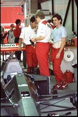 Ayrton Senna, Monza 1988 (slide converted to digital) (giuliominoja) Tags: ayrtonsenna senna formula1 formulaone monza f1