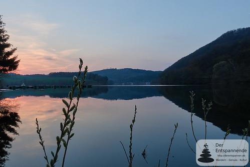 Sonnenuntergang am Diemelsee