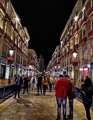 Calle larios (alienganímedes) Tags: málaga calle larios gente noche people spain andalucía street ngc