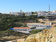 A view of Benagil (Gerald (Wayne) Prout) Tags: benagil benagilbeach lagoa algarve portugal geraldwayneprout canon canonpowershotsx60hs powershot sx60 hs digital camera photographed photography architecture building buildings structures rockformations rock formations atlanticocean municipality bengil beach nature coast atlantic ocean faro construction