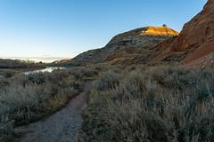 Old Mining Trails (TheNovaScotian1991) Tags: alberta nikond7100 afsdxnikkor1855mmf3556gvrii kitlens morninglight mountains drumheller badlands canada miningtrail