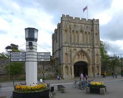 Bury St Edmunds Abbey Gate & Signpost P1450551mods (Andrew Wright2009) Tags: burystedmunds suffolk england uk scenic britain abbey gate signpost iconic