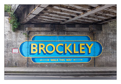 The Built Environment, South East London, England. (Joseph O'Malley64) Tags: thebuiltenvironment newtopography newtopographics manmadeenvironment manmadestructure railwayproperty structures overbridge railwayoverbridge bridge embankmentwall wall steelbeams reinforcedsteelgirders rivets rivited bridgespan brickwork bricksmortar cement pointing paintedbricks drainpipes antipigeonnetting weeds buddleia bridgestrikereportingsign sign signage mural pavement compositekerbing tarmac draincovers zebracrossingproximitymarkers waterdamage frostdamage weathering southeastlondon london england uk britain british greatbritain fujix fujix100t accuracyprecision urban urbanlandscape architecture architecturalphotography documentaryphotography documentary recording