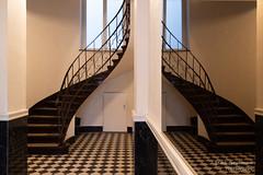 Geschwungende Treppe (Frank Guschmann) Tags: spiegelung treppe treppenhaus staircase stairwell escaliers architektur stairs stufen steps frankguschmann nikond500 d500 nikon