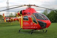 G-EHEM Essex & Herts Air Ambulance (kertappa) Tags: img8186 air ambulance herts hertfordshire essex hems doctor paramedics hospital gehem emergency helicopter harwoods adventurous playground watford