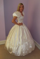 My 2nd Wedding Dress revisited 24th February 2019 (paula_1558) Tags: wedding gown marriage married marry marrying bride smile satin pose bridal blonde dress