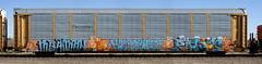 Meatman/Hockeymask/Polar (quiet-silence) Tags: graffiti graff freight fr8 train railroad railcar art hockeymask polar zee kfc autorack ferromex ettx705306 meatman