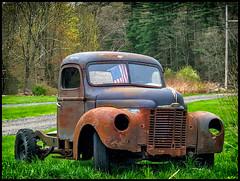 Faded Glory (Timothy Valentine) Tags: flag truck rust 0519 thursday 52weeks 2019 large derelict eastbridgewater massachusetts unitedstatesofamerica week182019 startingtuesdayapril302019 52weeksthe2019edition