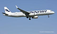 Finnair A321 ~ OH-LZU (© Freddie) Tags: londonheathrow poyle heathrow lhr egll 09l arrivals finnair oneworld airbus a321 ohlzu fjroll ©freddie