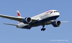 British Airways B787 ~ G-ZBJH (© Freddie) Tags: londonheathrow poyle heathrow lhr egll 09l arrivals britishairways ba oneworld boeing b787 b788 gzbjh fjroll ©freddie