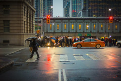 Crossing less traveled (A Great Capture) Tags: rain rainy umbrella agreatcapture agc wwwagreatcapturecom adjm ash2276 ashleylduffus ald mobilejay jamesmitchell toronto on ontario canada canadian photographer northamerica torontoexplore spring springtime printemps 2018 city downtown lights urban weather colours colors colourful colorful cityscape urbanscape eos digital dslr lens canon 70d sigma people crowd 1750mm overcast cloudy reflection mirror glass reflections outdoor outdoors outside vibrant cheerful vivid bright streetphotography streetscape photography streetphoto street calle night darkness nocturnal dark illuminate lighting clouds