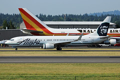 Old School Livery With New Winglets (planephotoman) Tags: 81014pdx boeing 737 738 737800 737890 n556as alaskaalaska airlinesairlineairlinerpdx aircraftportland international airport pdx kpdx