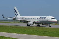 SX-DNA Airbus A320-232(WL) (LXKARL) Tags: airbus bru bruxelleszaventem a320232wl sxdna aegeanairlines cn6655
