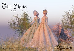 Petit Marie (coming soon) (Moanna Mistwallow) Tags: marie antoinete maria antonieta antoinette french dress rococo petit urbane refuge kemono medieval cute anime m3 m4 venus utiliator sl secondlife second life rpg rp game lovely pastels floral blueberry blackberry pie apple versaillers