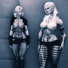 The Alleius Twins - Urban Hangin' (DiamondbackVIII) Tags: carmilla leona tattoo bodypaint facepaint nsfw character shot elder scrolls v skyrim