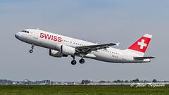 HB-JLQ  Airbus A320-200 -  Swiss (Peter Beljaards) Tags: msn4673 cfm565 bülach ams eham schiphol airplane jetliner aircraft plane departure polderbaan nikon7003000mmf4556 nikond5500 36l hbjlq swiss airbusa320200 airbusa320 a320