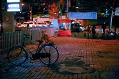 2053/1713 (june1777) Tags: snap street seoul night light bokeh bike kyocera contax n digital ndigital nd carl zeiss planar nplanar 50mm f14 200