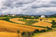 La campagna toscana: Orciano (5) - The Tuscan countryside: Orciano (5) (Eugenio GV Costa) Tags: approvato toscan toscana campagna nuvole cielo alberi countryside clouds sky trees outside