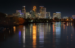 Skyline On The Mississippi - Minneapolis, MN (j-rye) Tags: mississippi minnesota minneapolis skyline river city trees buildings lights water sonyalpha sonya7rm2 ilce7rm2 mirrorless