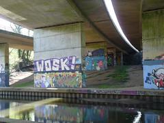 Graffiti under the Winnersh A3290 flyover 2019 April 2019 (4) (karenblakeman) Tags: readinggreendrinkswalk loddon berkshire uk april 2019 river bridge graffiti a3290flyover