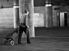 solitary silence (gro57074@bigpond.net.au) Tags: stphotographia solitarysilence march 2019 105mmf14 f14 artseries sigma d850 nikon cbd darlingharbour sydney guyclift mood elderly woman candid loneliness monochromatic monotone monochrome mono bw blackwhite silence alone