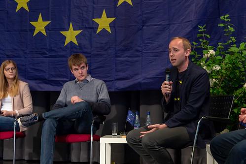 Podiumsdiskussion zur Europawahl an der Europaschule Gymnasium Westerstede u.a. mit Tiemo Wölken MdEP.