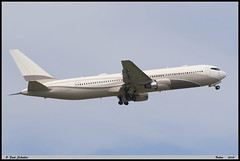 """BOEING767 33A(ER) """"Global Jet Luxembourg"""" P4-MES 33425 Baden avril 2019 (paulschaller67) Tags: boeing767 33aer globaljetluxembourg p4mes 33425 baden avril 2019"""