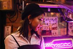 neon (mitomeru) Tags: neon night alley shibuya instameet tokyo light model portrait moody lighting warm purple