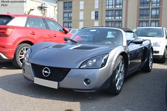 Opel Speedster Turbo (Monde-Auto Passion Photos) Tags: voiture vehicule auto automobile opel speedster turbo cabriolet convertible roadster spider sportive gris grey france fontainebleau