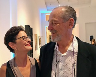 The Miami Herald's Jane Wooldridge with husband Stetson Glines at the Lowe Museum Evening of Art fundraiser