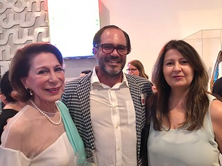 Dora Valdes-Fauli with artist Sinuhe Vega and Books&Books curator Cristina Nosti at the Lowe Museum's Evening of Art fundraiser