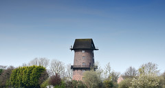 Windmill - Burscough Nr Southport (Joan's Pics 2012) Tags: windmill home converted tall roundhouse atthetreetops brickwork explore