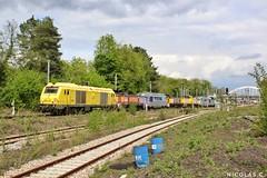 BB(6)75080 - TM - Train n°61257 Achères-Triage > Villeneuve-St-Georges-Triage (nicolascbx) Tags: bb75000 bb75080 bb67400 bb64600 bb66000 bb60000 sncf sncfinfra sncfréseau infra infrarail locomotiveconvoy locomotive achères achèrestriage villeneuvestgeorgestriage ambassadeurs 61257 train zug