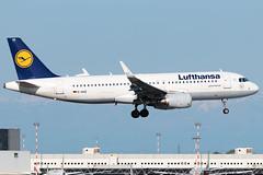Lufthansa Airbus A320-200 D-AIUE | Milano - Malpensa (MXP-LIMC) | 1st May 2019 (Brando Magnani) Tags: aviationphotography crane landing aircraft airplane aviation malpensa sharklets airbusa320 airbus lufthansa