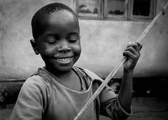 While My Guitar Gently Weeps (gunnisal) Tags: africa portrait boy malawi bw blackandwhite monochrome child mangochi gunnisal