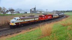 Making An Appearance (Ryan Distad) Tags: cp emd train railroad canadian pacific railway iowa keith creel president f unit heritage passinger