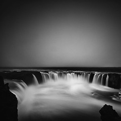 Godafoss (frodi brinks photography) Tags: godafoss goðafoss waterfall outdoor travel frodibrinks frodi brinks blackandwhite black white