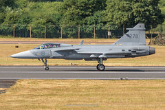Swedish JAS-39C Gripen 278 (Mark_Aviation) Tags: swedish jas39c gripen 278 jas39 landing after display riat 2018 14072018 air force sweden riat18 military aircraft airshow jet plane loud fast afterburner
