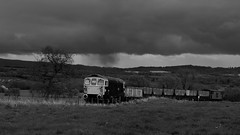 Storming the bank (Duck 1966) Tags: 33102 crompton type3 foxfieldrailway emrps diesel locomotive coal wagons
