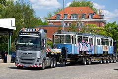 Die neue Heimat des p-Beiwagens 3010 ist erreicht (Bild: Klaus Werner) (Frederik Buchleitner) Tags: 3010 bahnwärterthiel beiwagen munich münchen pwagen strasenbahn streetcar tram trambahn viehhof