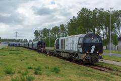 RFO 1605 met graantrein (Durk Houtsma.) Tags: vossloh ebs 1605 rfo vtg railforceone europoort g2000 zuidholland nederland