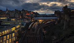 City centre (Robert France) Tags: 2019 brel britain britishrailengineering castle city citycentrerailway cityrailway dark darkness departmentoftransport dft drivingvantrailer drivingvantrailor dusk dvt eastcoast edinburgh edinburghcastle edinburghwaverley edinburghwaverleyrailwaystation edinburghwaverleystation england express expresstrain expresstrains greatbritain highspeedtrains intercity intercity225 intercitytrain lner londonandnortheasternrailway londonnortheasternrailway mark4 mk4 nationalisation nationalised nationalization nationalized night olr operatoroflastresort passengertrain publictransport railway railwayinthecity railwaystation railwaystationatnight railwaystations railways scotland staterun sunsets train trains transport travel traveling uk unitedkingdom waverleystation